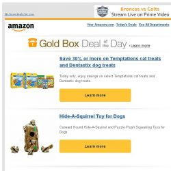 [Amazon] Save 30% or more on Temptations cat treats and...