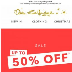 [Miss Selfridge] OMG it's the SALE PREVIEW!