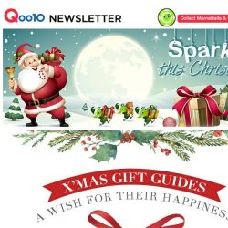 [Qoo10] Christmas Time Is Near And It's Time To Play Santa! Hurry And Grab All These Sparkling Deals!