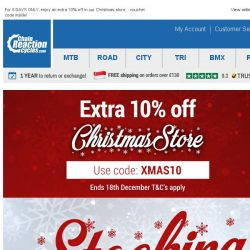[Chain Reaction Cycles] Santa's calling: Extra 10% off!