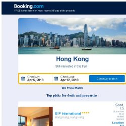 [Booking.com] Deals in Hong Kong from S$ 263