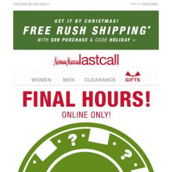 [Last Call] ⏰ MYSTERY SAVINGS time's up