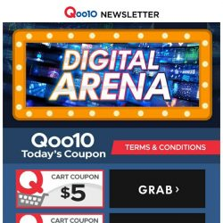 [Qoo10] Qoo10 Digital Arena! Qisahn Official Launch! All Your Gaming Needs! Google Home Max! Newly Launch! While Stocks Last!