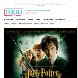 [SISTIC] Harry Potter and the Chamber of Secrets in Concert!