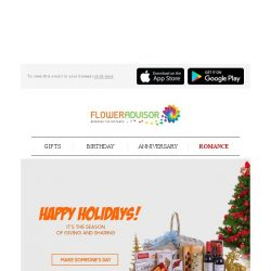 [Floweradvisor] Cheer Up Your Loved Ones Holidays with Our Recommended Hampers. Hurry!