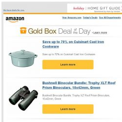 [Amazon] Save up to 70% on Cuisinart Cast Iron Cookware