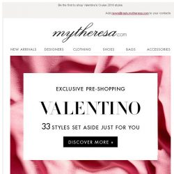 [mytheresa] Exclusive pre-shopping: Valentino new season