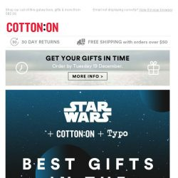 [Cotton On] Come to the Dark Side, we have the best gifts!