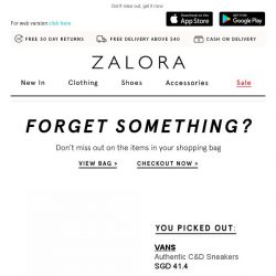 [Zalora] Get your VANS item now!