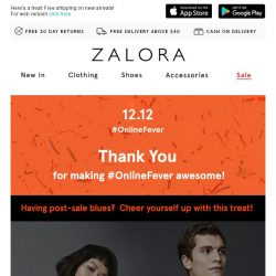 [Zalora] Thank you for making 12.12 #OnlineFever a success!