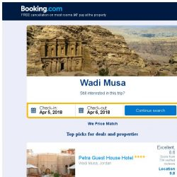[Booking.com] Deals in Wadi Musa from S$ 19