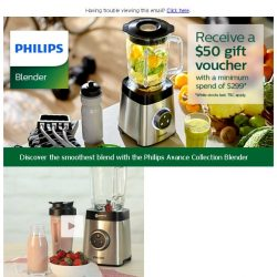 [PHILIPS] Indulge in your favourite smoothie and green juice is so simple!