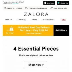 [Zalora] Up to 70% off: Your December must-haves are right here!