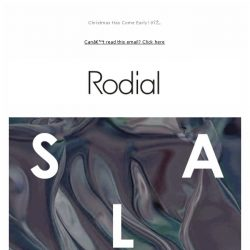 [RODIAL] SALE Now On - Up to 50% Off