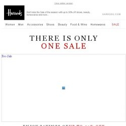 [Harrods] There Is Only One Sale