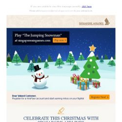 "[Singapore Airlines] Play ""The Jumping Snowman"" this Christmas"