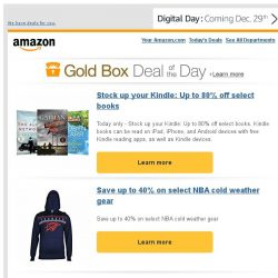 [Amazon] Stock up your Kindle: Up to 80% off select books