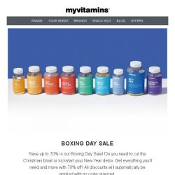 [MyVitamins] 🎄 Boxing Day SALE 🎄