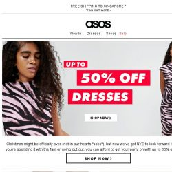 [ASOS] Up to 50% off dresses – oh hey, NYE!