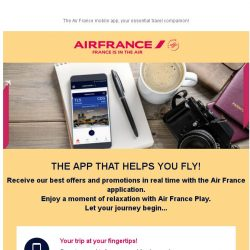 [AIRFRANCE] In 2018, let's stay connected with the Air France App