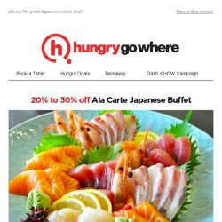[HungryGoWhere] Wrap Up 2017 with 20% to 30% off Ala-Carte Japanese Buffet at Hokkaido Sushi Restaurant