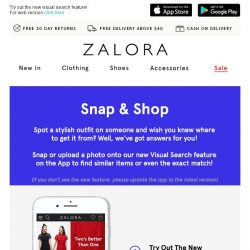 [Zalora] 📷 Introducing A New Way To Shop On The App!