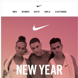 [Nike] Get Ready: New Year Sale