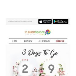 [Floweradvisor] 3 Days to 2018: A Memorable New Year's Eve Starter Pack is Here. Check It Out!