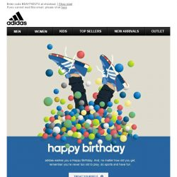 [Adidas] Here's a special gift for your birthday