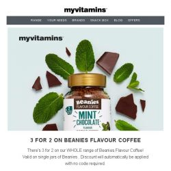 [MyVitamins] ☕ 3 for 2 on Beanies Flavoured Coffee! ☕