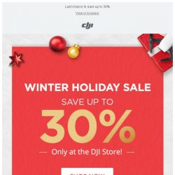 [DJI edm] Winter Holiday Sale: Just 48 Hours Left!
