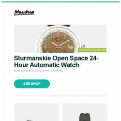 [Massdrop] Sturmanskie Open Space 24-Hour Automatic Watch, Kershaw Reverb Frame Lock Knife, Fjällräven Men's High Coast Trousers and more...