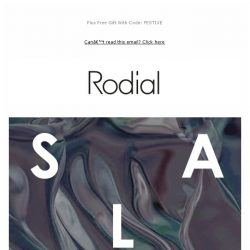 [RODIAL] Sale: New Lines Added + Further Reductions!