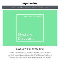 [MyVitamins] 🎆 NYE Savings   What will yours be? 🎆