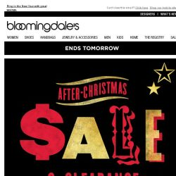 [Bloomingdales] Ends tomorrow: Save up to 75%