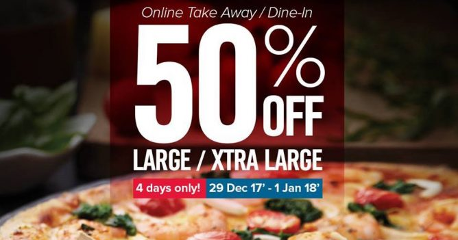 111ba653537e2d Celebrating the new year at home or having a party  Domino s Pizza s 50%  off offer comes in just in time! Order online to enjoy Just order online to  enjoy ...