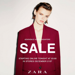 ZARA: Year End Sale with Up to 60% OFF in Stores & Online!