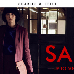 Charles & Keith: End-of-Season Sale with Up to 50% OFF Shoes, Bags & Accessories