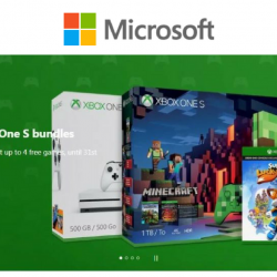 Microsoft Store: Get Up to 4 FREE Games with Xbox One S Bundles!