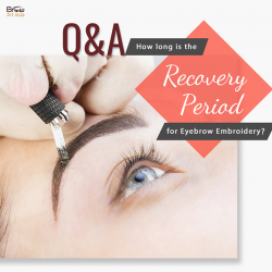 [BROW ART ASIA] Freshly done eyebrow embroidery will take about one week to fully heal.