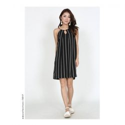 [MDSCollections] Most wanted, sale items | Striped Halter Dress in Black