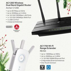 [Newstead Technologies] The Archer C1200 creates a reliable, blazing-fast network using powerful 802.