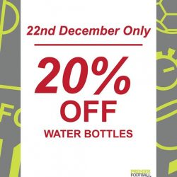 [Premier Football Singapore] 20% OFF water bottles.