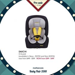 [Mothercare] CAR SEATS | Enjoy huge savings for Cybex, Daiichi, Britax and more this Pre-Sale!