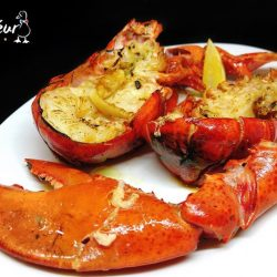 [Saveur Art] Saveur presents, a December special, FRESH & WHOLE Butter-Roasted Lobster, served with Hollandaise Sauce and Truffle Fries at only $42++
