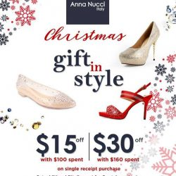 [Anna Nucci] Dont's miss our CHISTMAS PROMOTIONGet 15$ off with 100$ spent and 30$ off with 160$ spent on single