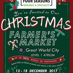 [Four Seasons Organic Market] 1 more day to our Christmas Farmer's Market!