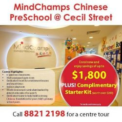[MindChamps Medical] Enrol your child in our MindChamps Chinese PreSchool @ Cecil Street to help him/her build a strong Chinese Foundation for