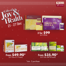 [Eu Yan Sang] Gift health and wellness in the new year with Liva Max, Bak Foong Pills and Pure Cordyceps for the special
