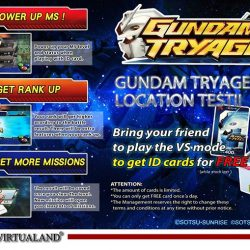 [Virtualand Singapore] Gundam Try Age is a card-based arcade game where you collect, set, and move a team of mobile suit